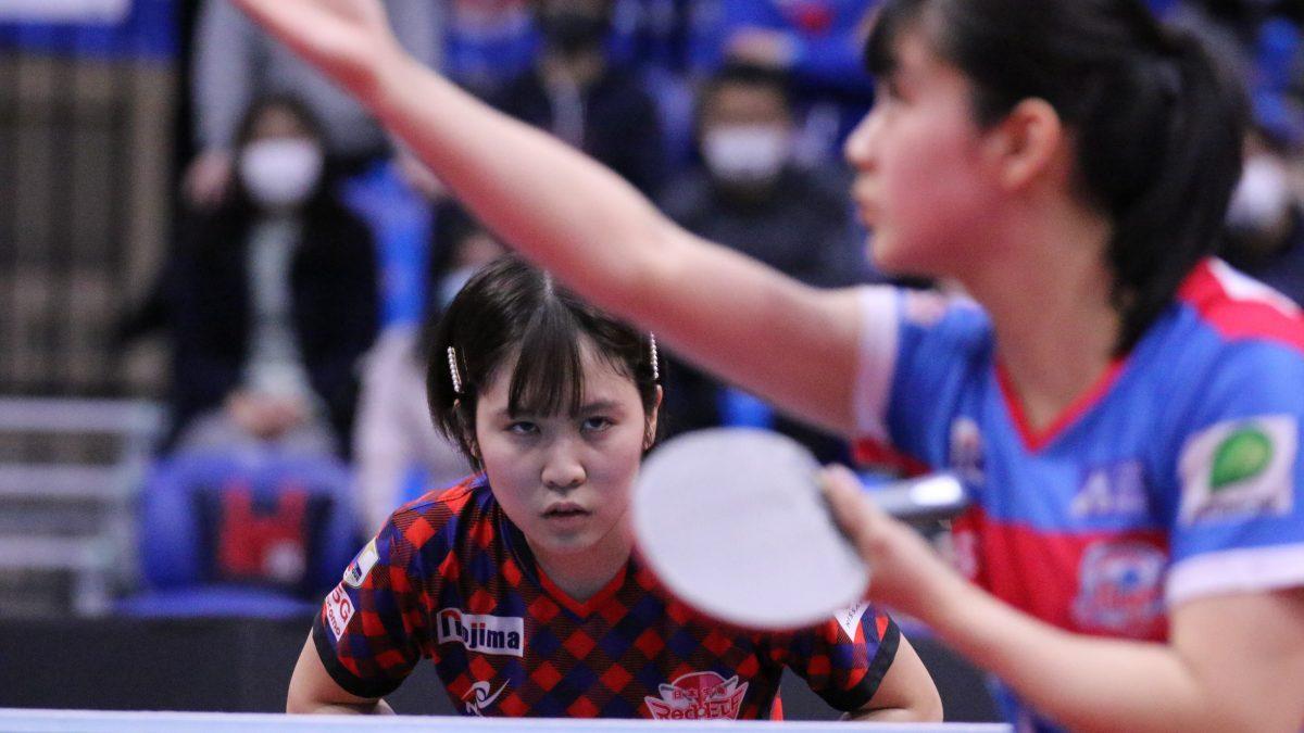 平野美宇「Tリーグを通して強くなれた」 単複2勝で日本生命3連覇に貢献