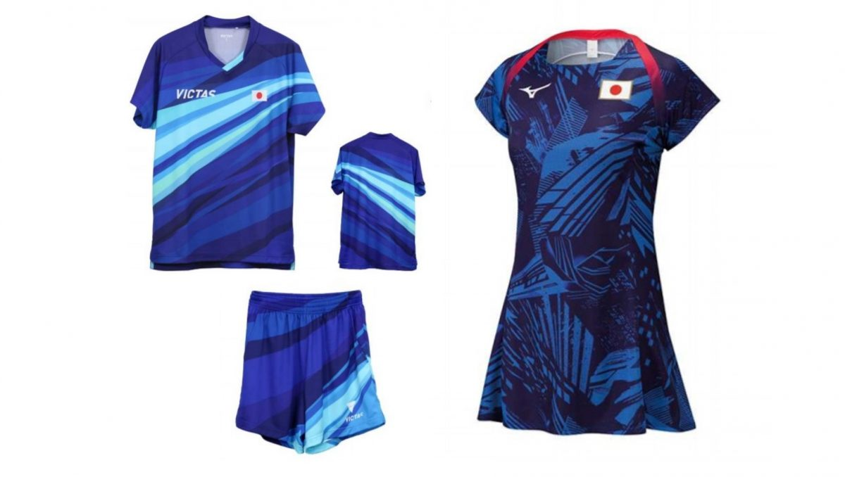 男女卓球日本代表の東京五輪着用ユニフォーム公開 女子は初のワンピースも