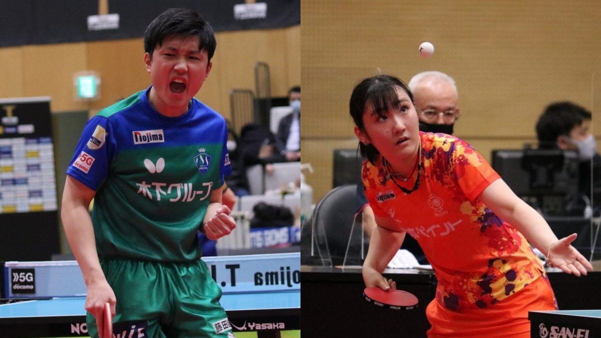 張本智和・加藤美優 男女最多勝選手がTリーグ後期MVPに