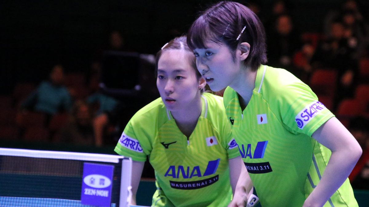五輪代表の石川佳純/平野美宇ペアが圧巻V 2021年初の国際大会で力見せる<卓球・WTTコンテンダードーハ>