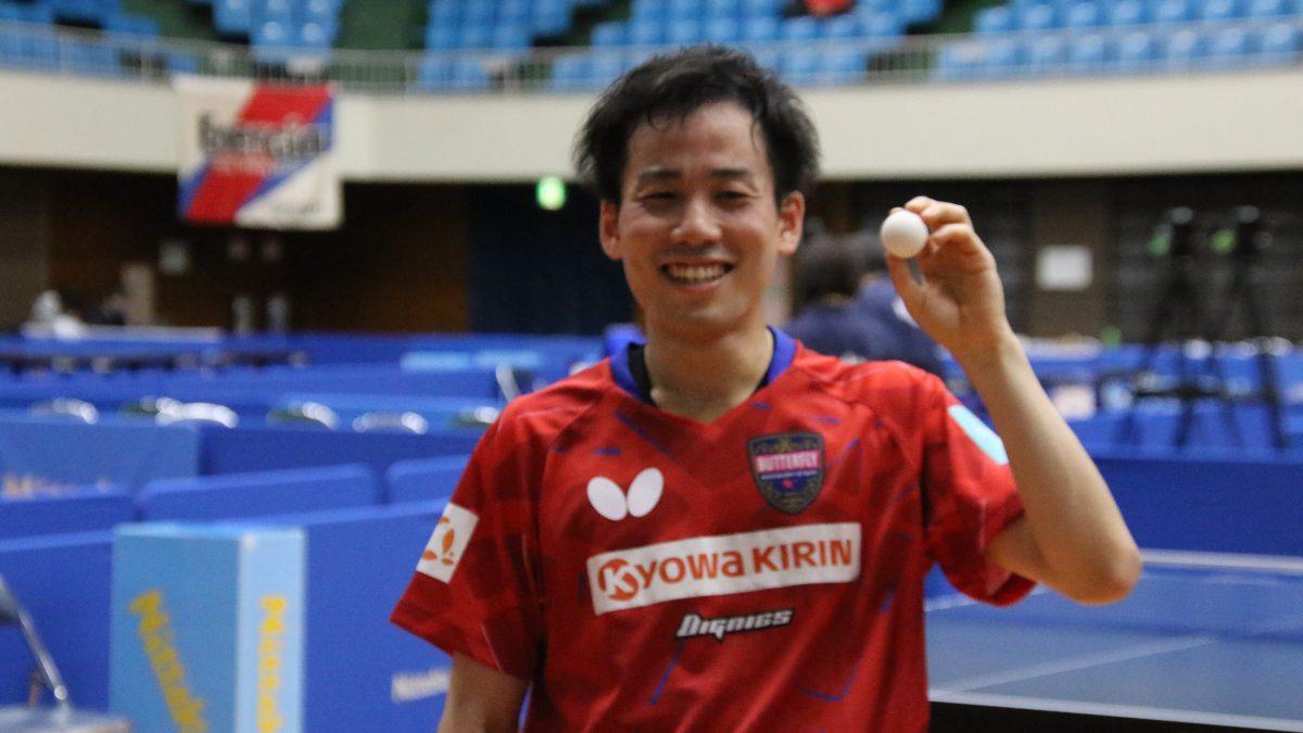 平野友樹が男子単V「すべてのタイトルをゲットしたい」<卓球・ビッグトーナメント>