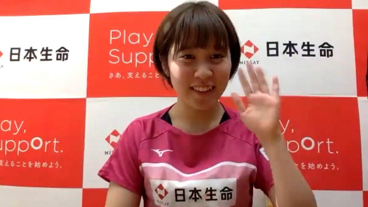 平野美宇「自分が成長していればチャンス」東京五輪まで実戦なしも不安なし