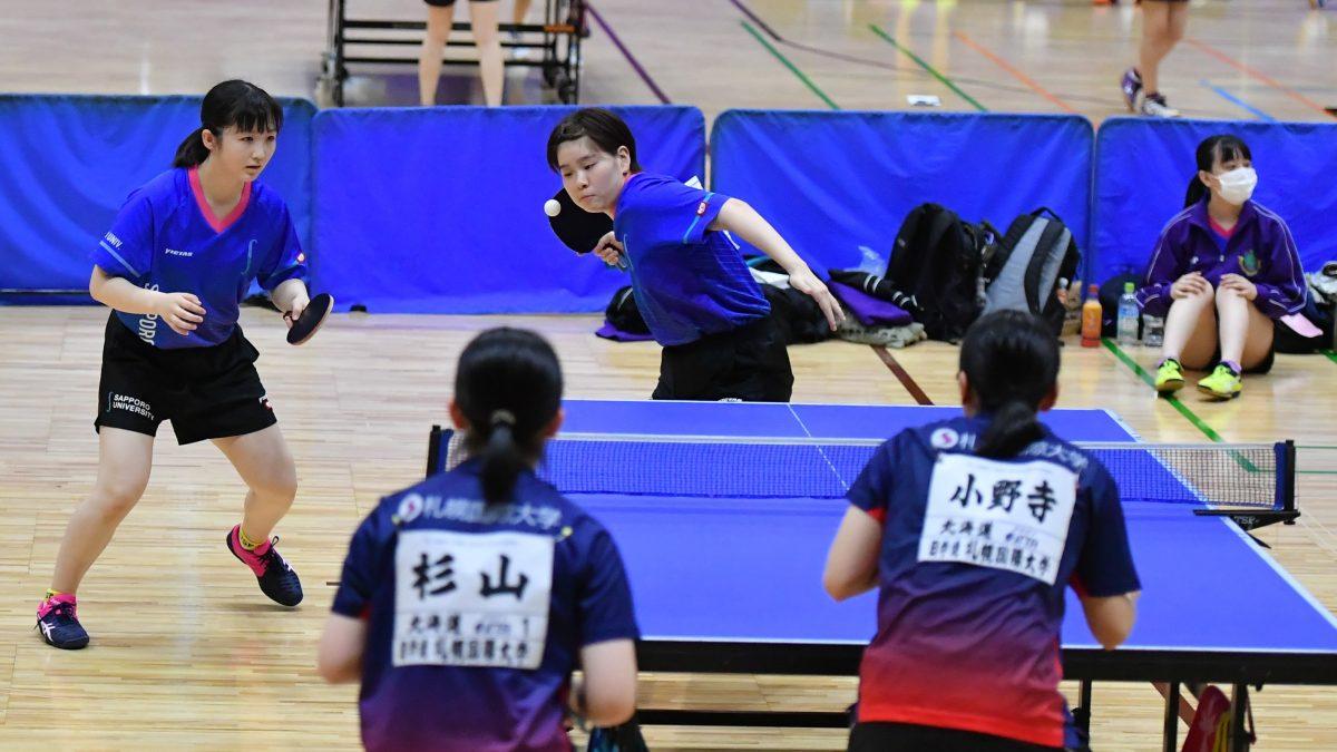 北海道学生卓球連盟の主な新人選手 札幌大学に札幌大谷や明徳義塾から新人加入