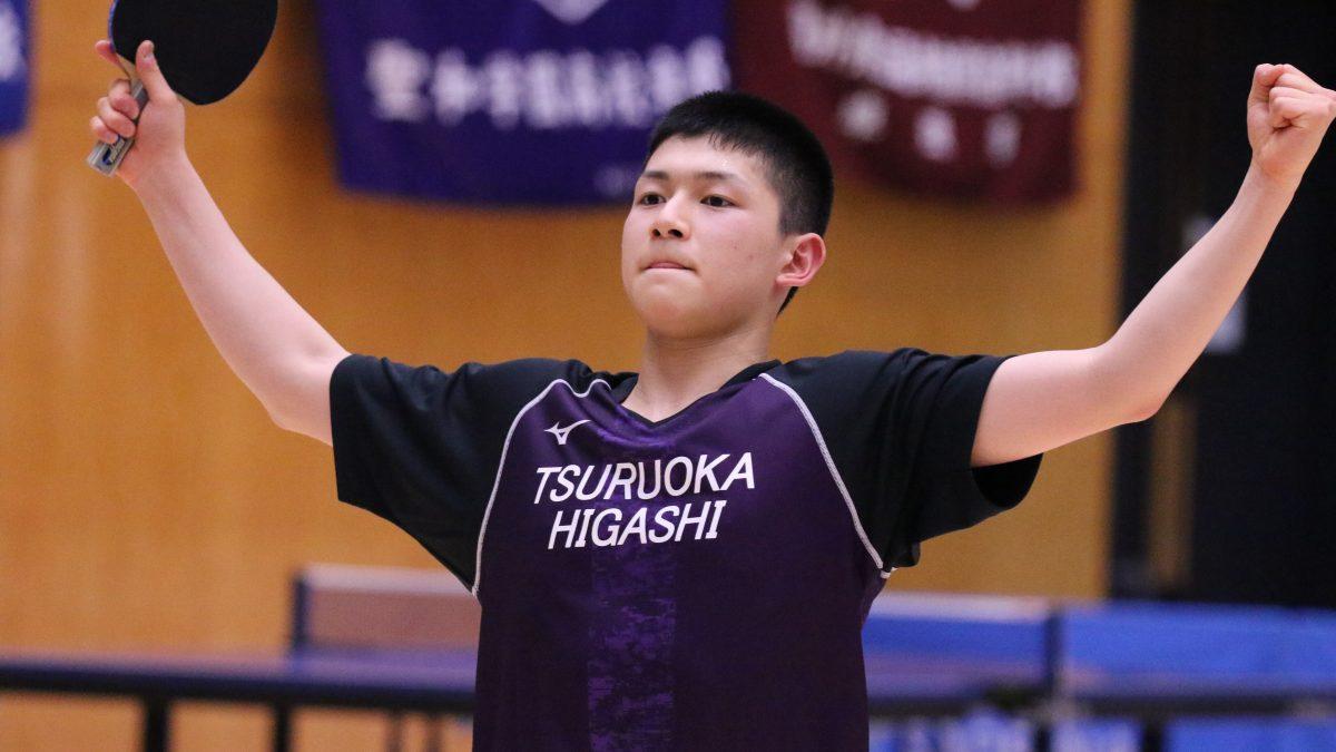 高校選抜3位の男子・鶴岡東がV シングルスは櫻井倭が優勝<卓球・インターハイ山形県予選>