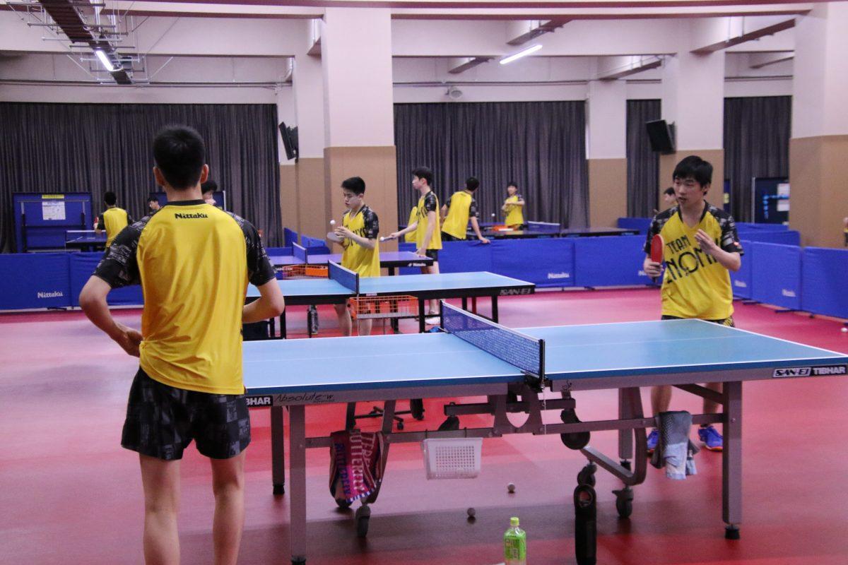 写真:選手それぞれが課題練習をこなす/撮影:ラリーズ編集部