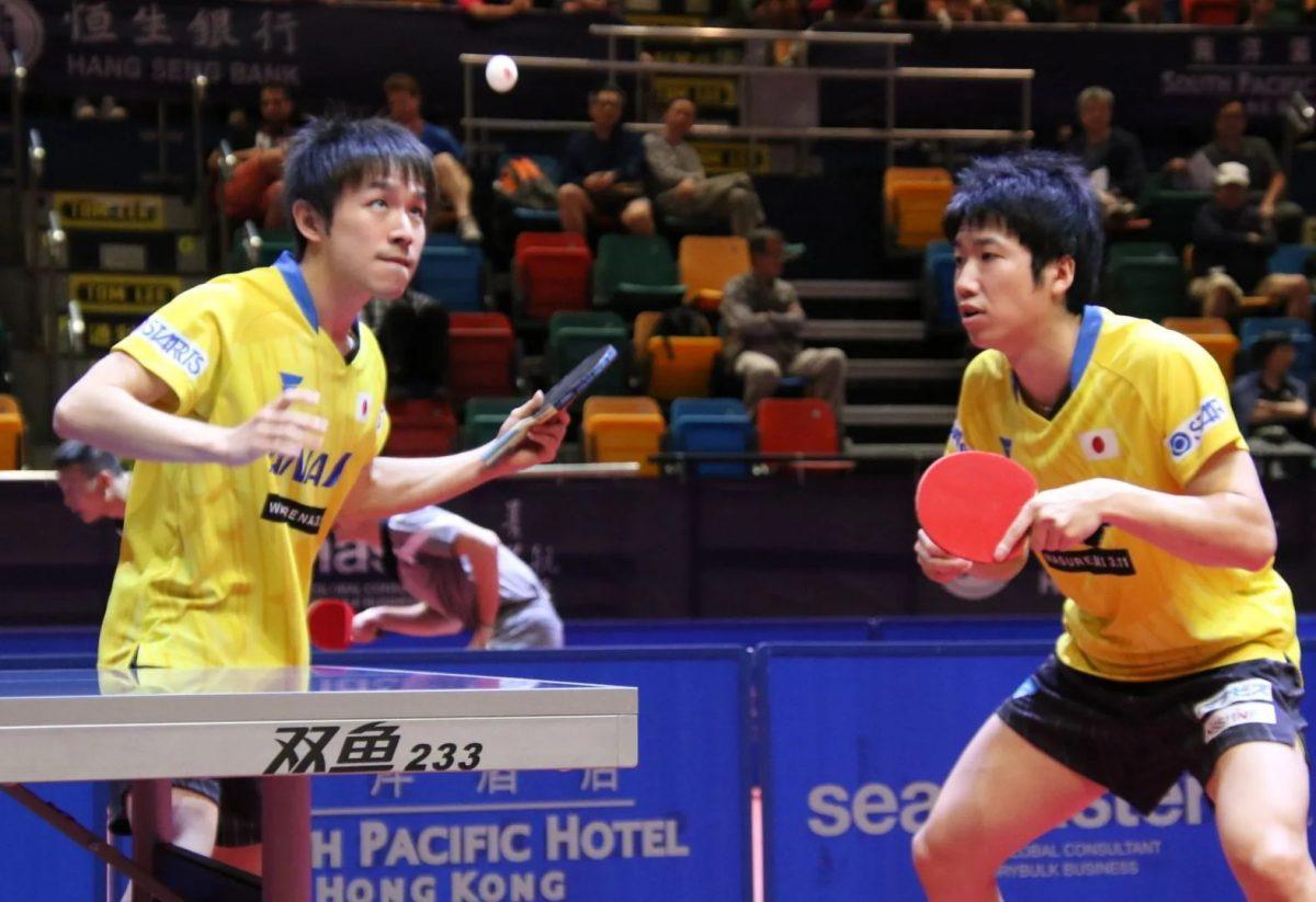 水谷隼(写真左)と丹羽孝希