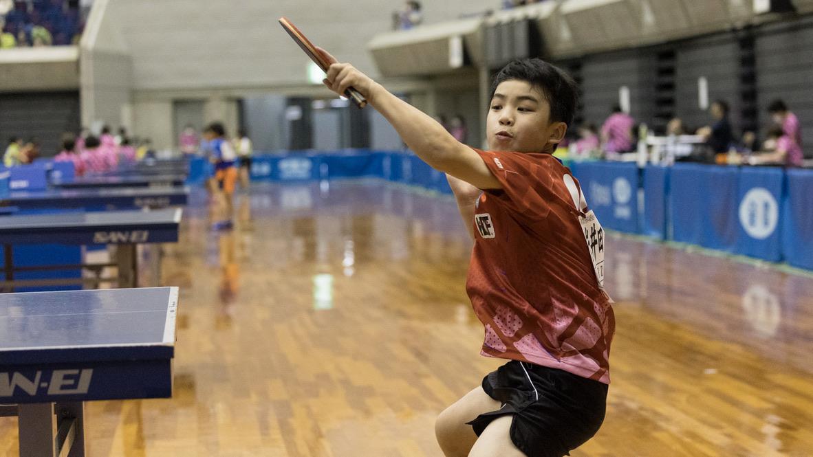 小学生たちの熱い夏、2年ぶりの思いを込めて<卓球・全日本ホカバ3日目男子>