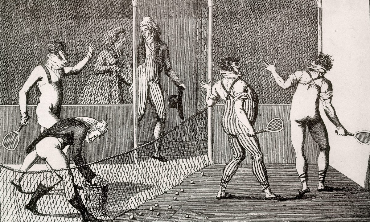 写真:「テニスの原型」 ジュ・ド・ポーム/提供:ALBUM/アフロ