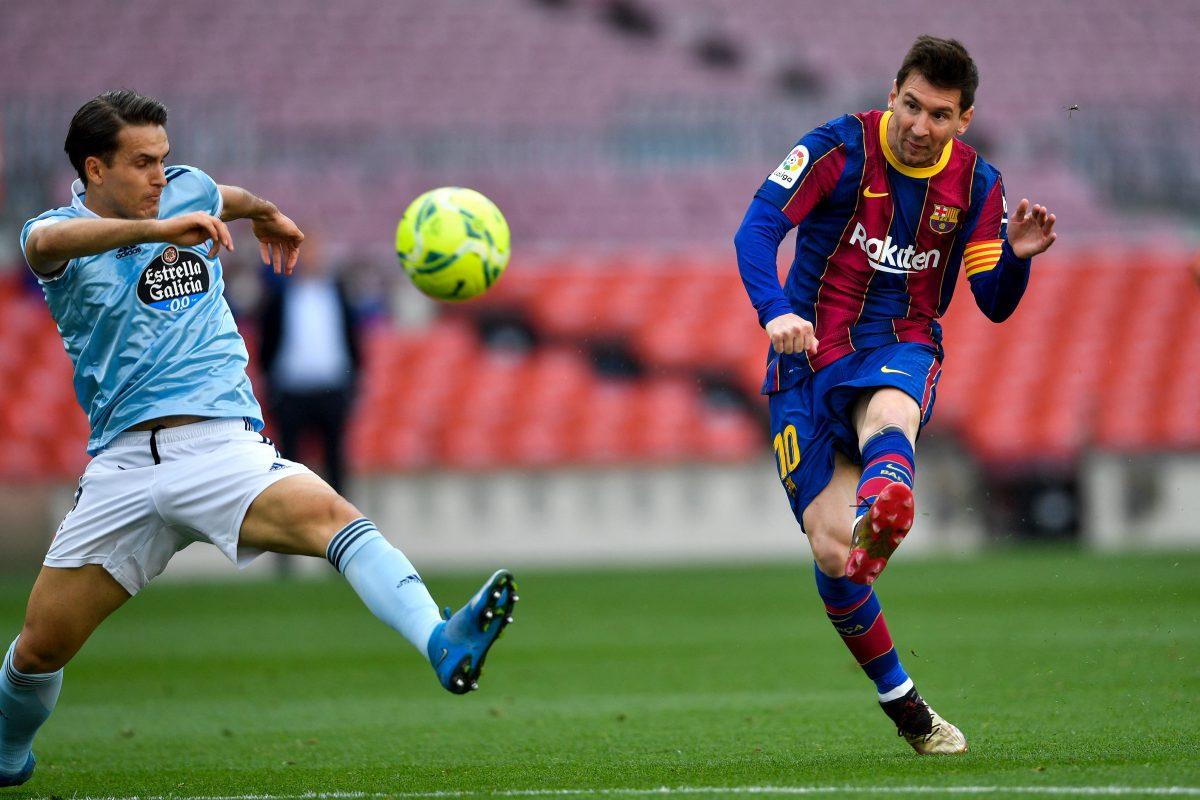 写真:FCバルセロナのメッシ/提供:AFP/アフロ