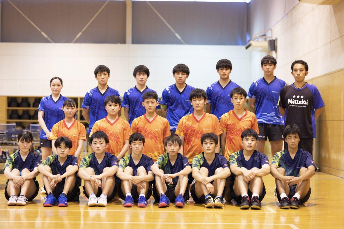 写真:湘南工科大附高の卓球部メンバー/撮影:槌谷昭人