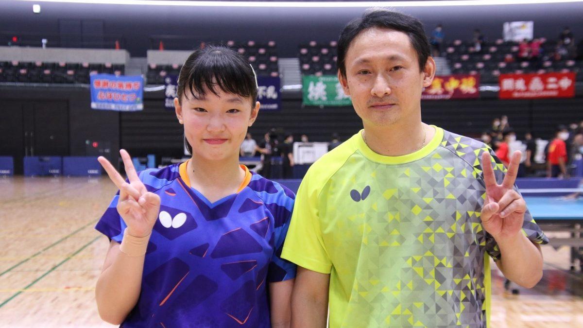 張本美和、中1で全中優勝 兄の五輪試合を「見た甲斐あった」<全中女子シングルス決勝>