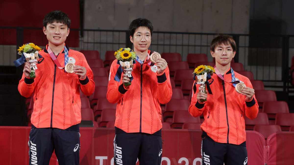 【五輪卓球】男子日本が銅獲得 日本代表、全選手がメダル獲得で閉幕