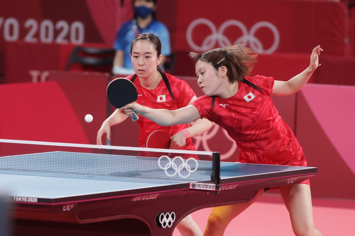 写真:石川佳純/平野美宇/提供:ITTF