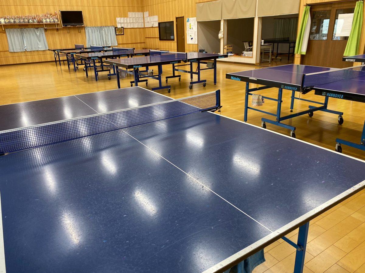 現在のヒゴ鏡卓球クラブ練習場