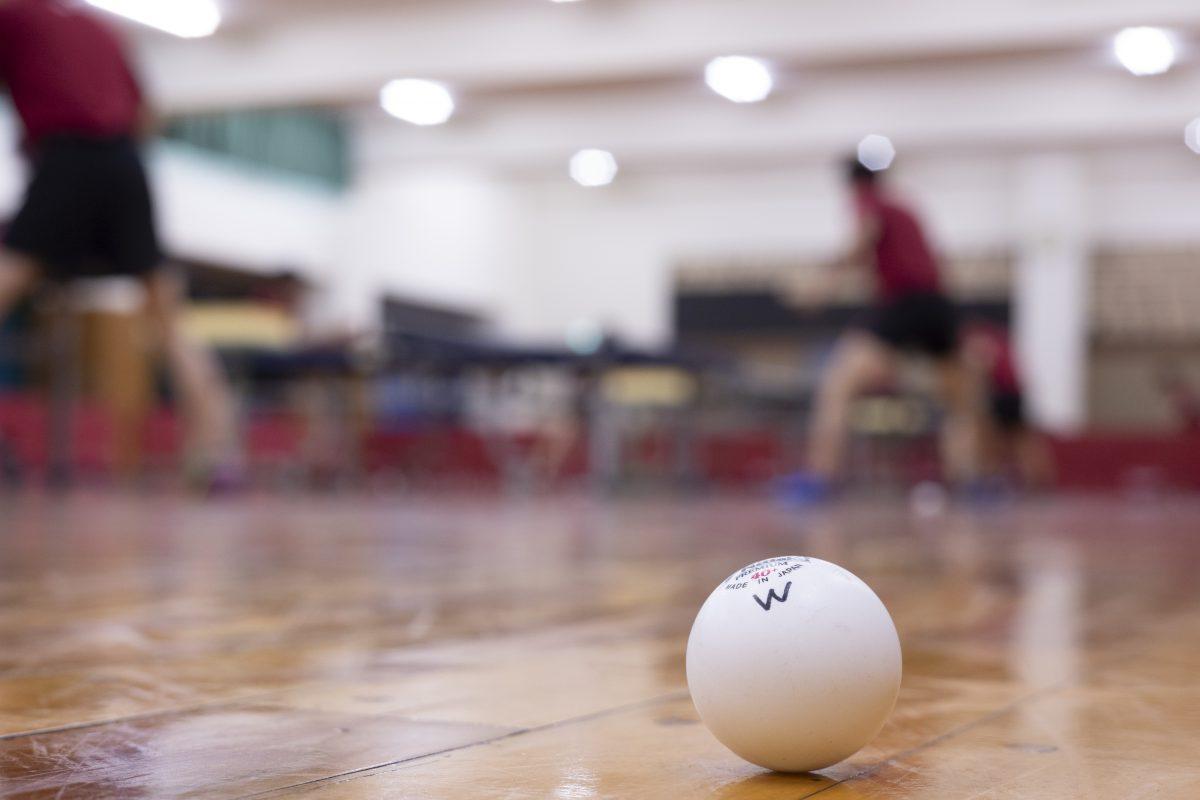 写真:早稲田大学卓球部の練習/撮影:槌谷昭人