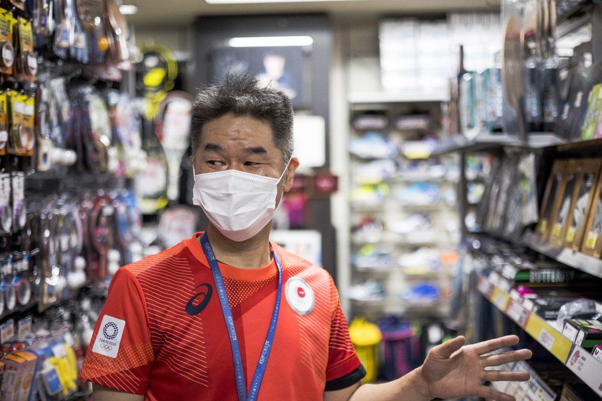 写真:スーパースポーツゼビオグループの小林さん/撮影:ラリーズ編集部
