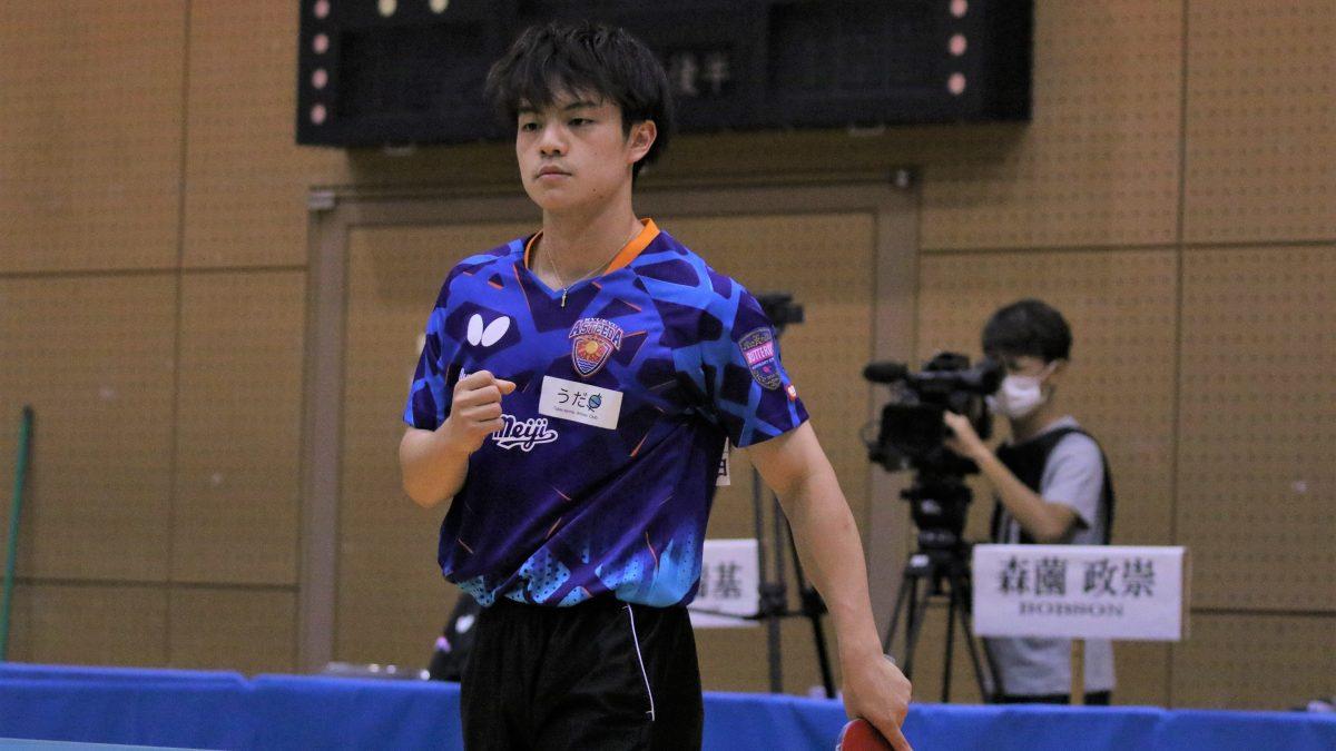 宇田幸矢、10連勝で1位通過 森薗、戸上も代表切符掴む<卓球・世界選手権日本代表選考会>