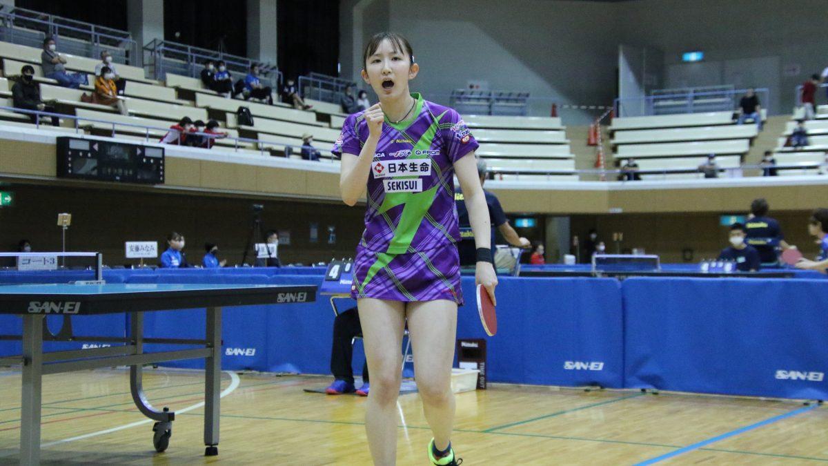 早田ひな「これは通過点」芝田沙季とともに代表権獲得<卓球・世界選手権日本代表選考会>