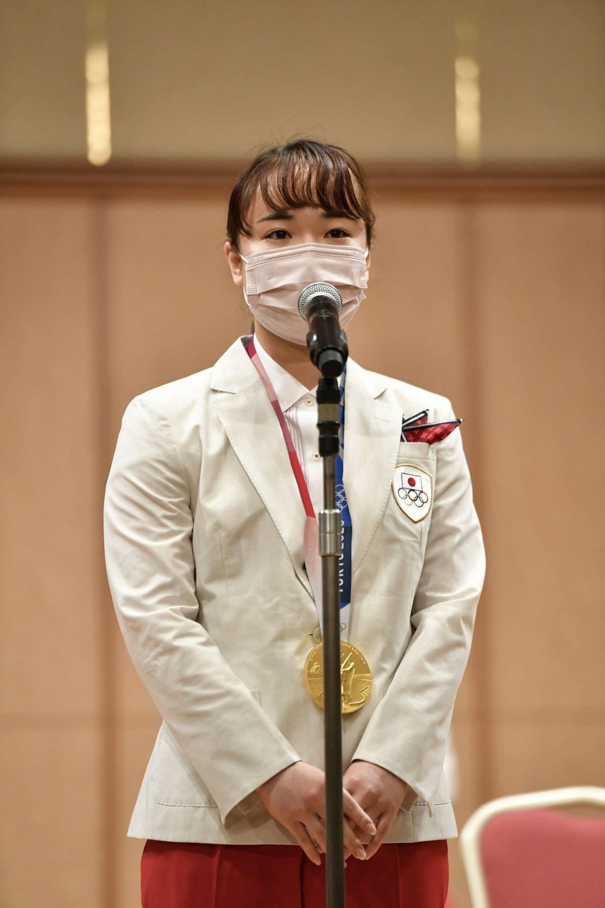 写真:伊藤美誠(スターツ)/提供:日本卓球協会