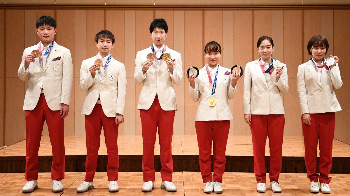 混合複金メダルの水谷隼「夢が叶えられた」卓球日本代表、東京五輪報告会開催