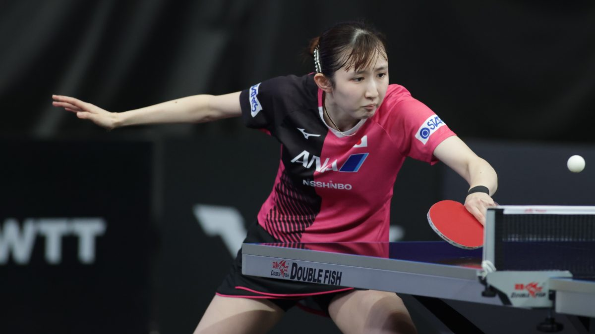 早田ひな、決勝進出 東京五輪韓国代表左腕に大逆転勝利<卓球・WTTスターコンテンダードーハ>