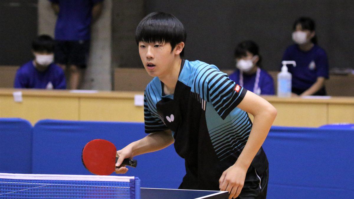 作新学院高・加藤渉、一般の部で3種目出場へ<卓球・全日本栃木県予選>