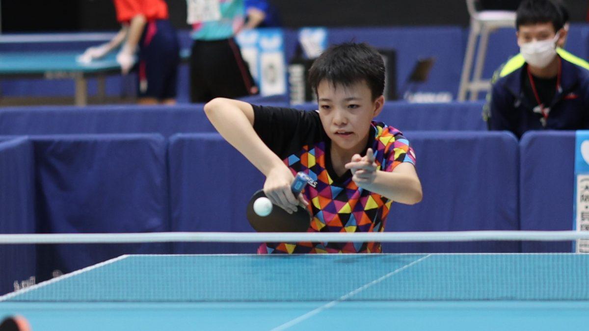 13歳・小塩悠菜、トップ名古屋と契約 独特なグリップで戦うオールラウンダー